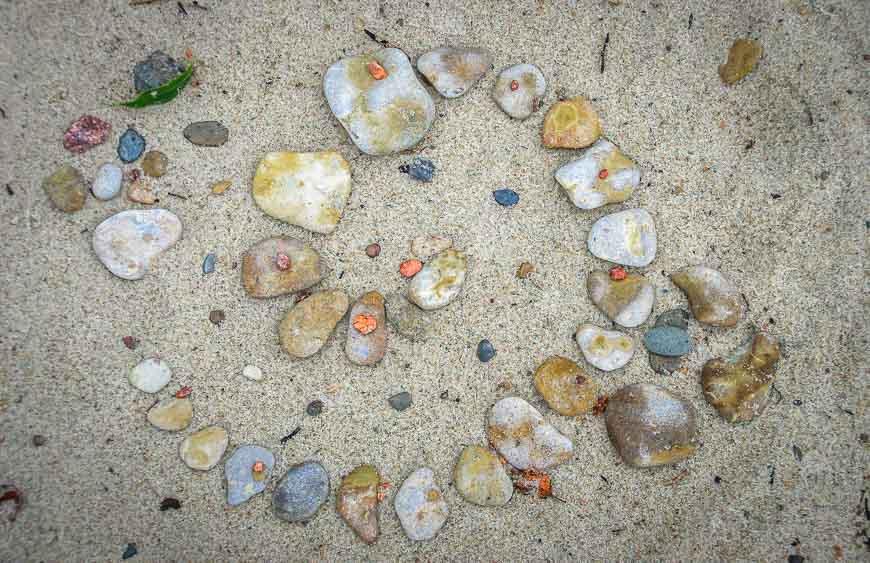 Sand art on the beach