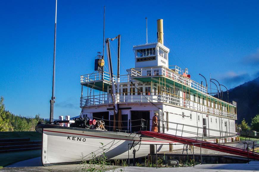 The SS Keno in drydock