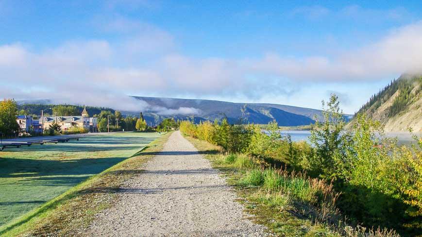 A walking path along the Yukon River