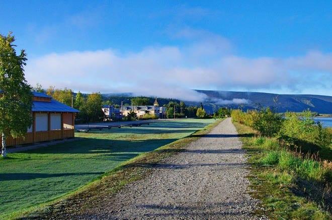 """""""A walking path along the Yukon River"""""""