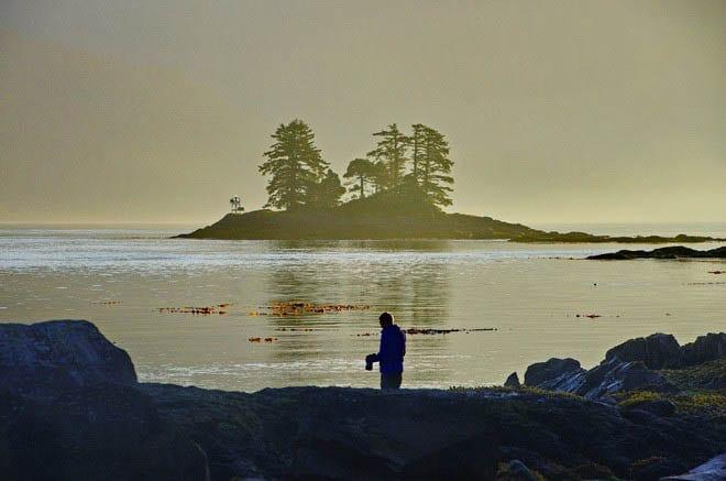 """Morning mist and calm waters - Haida Gwaii"""