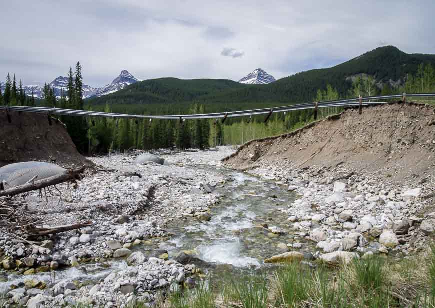 Bridge washed out from 2013 floods along Highway 40