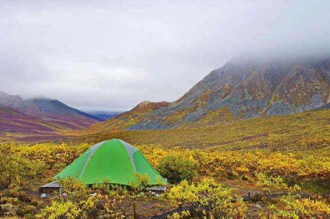 Camping at Divide Lake