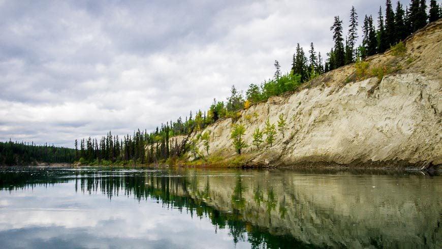 Morning reflection on the Yukon River