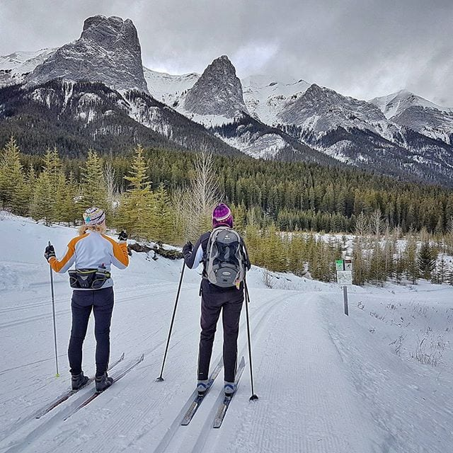 Skiing at the Canmore Nordic Center