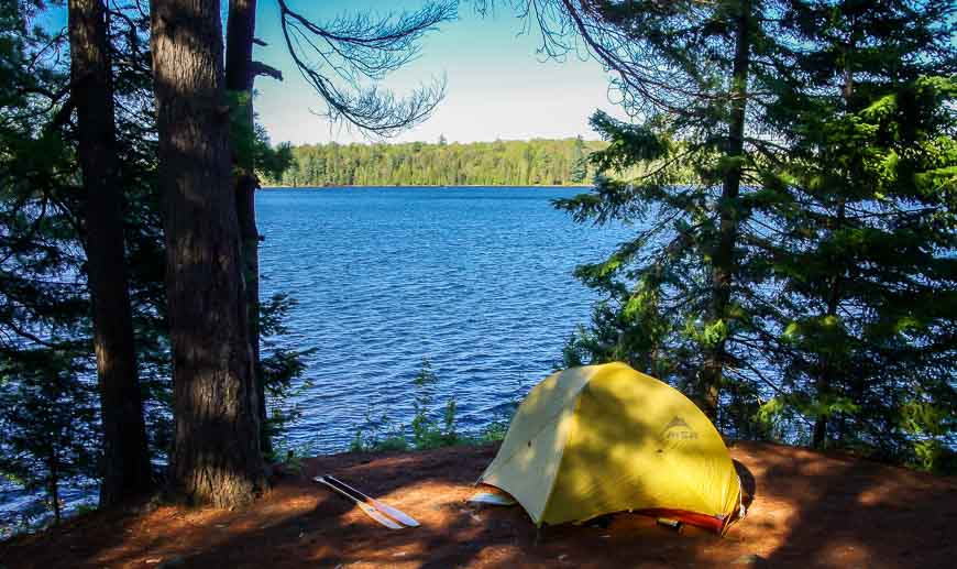 Another beautiful campsite on Head Lake in Algonquin Park