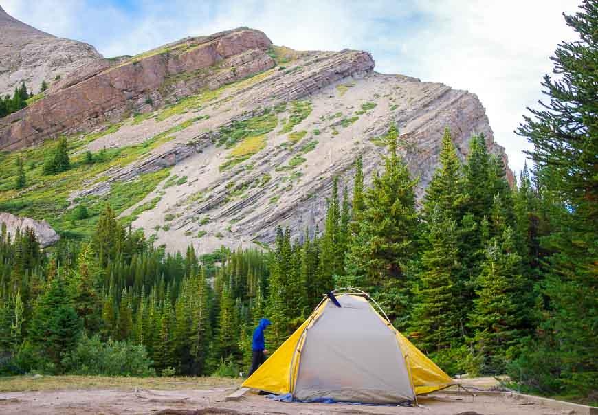 Camping at the Baker Lake Campground, Banff National Park