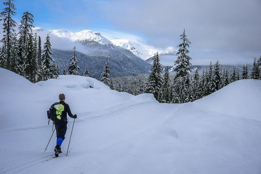 Nordic skiing at Callaghan Country near Whistler