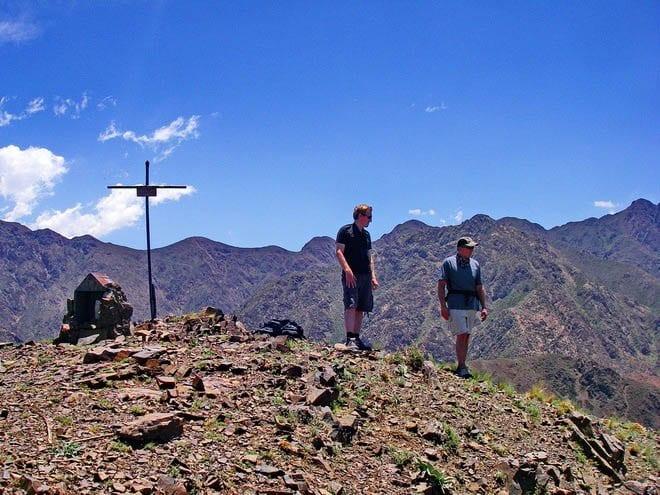 Hiking in the hills around Mendoza