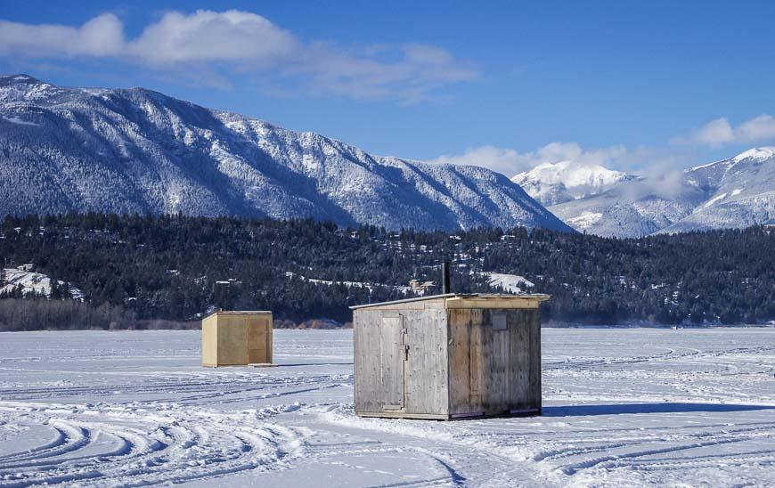 Looks like ice-fishing huts to me