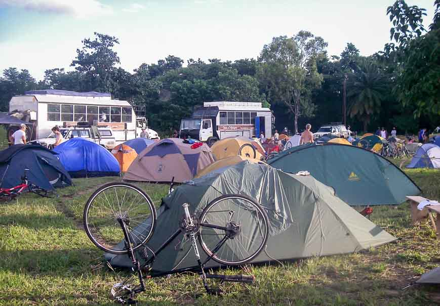 The inside of your tent is a haven on a long trip like the Tour d'Afrique