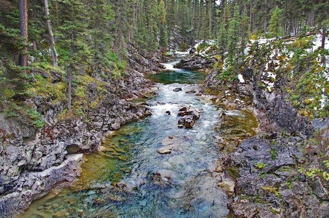 Beautiful river crossing
