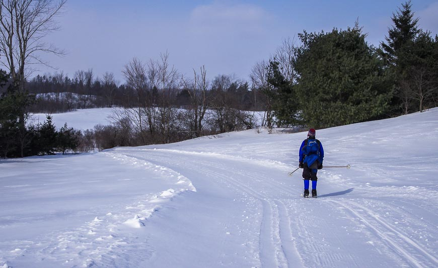 Beautiful open skiing on the trails in the Wakefield area