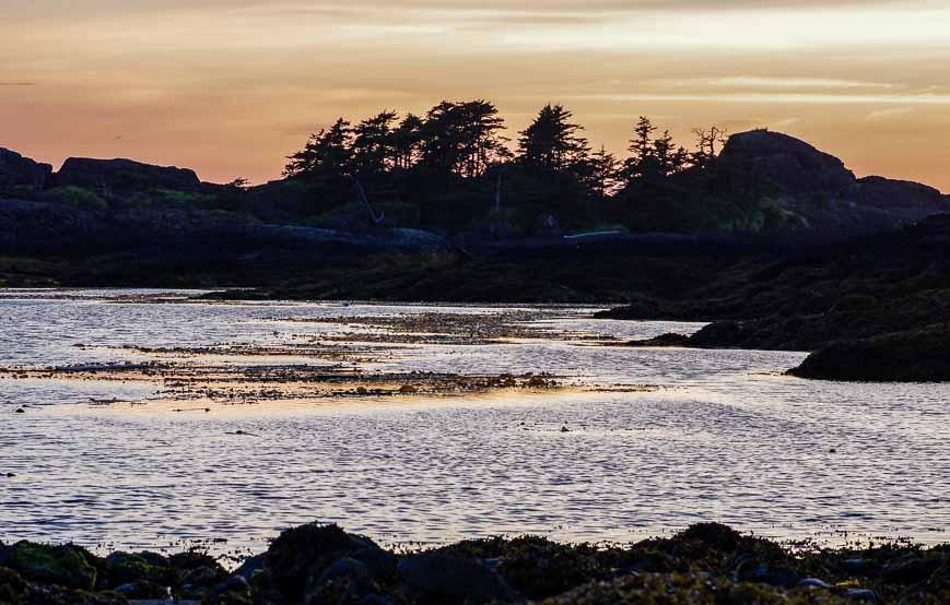 Classic west coast sunset