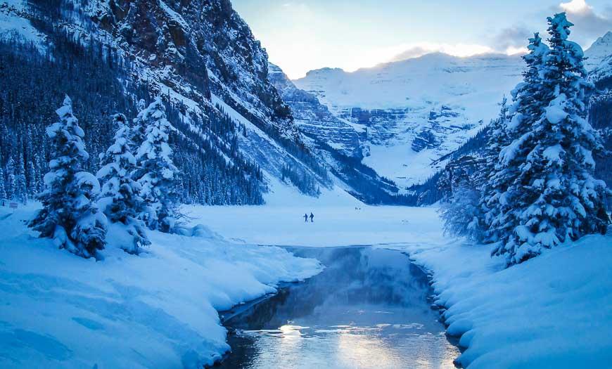 Beautiful Lake Louise In Winter