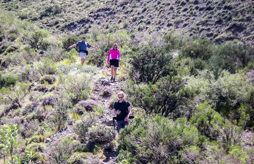 It's a dry, rocky landscape outside of Mendoza