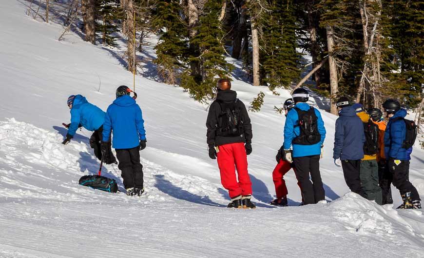 Avalanche beacon training