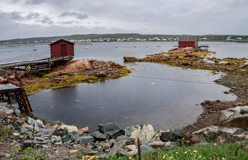 Fogo Island scene in the rain