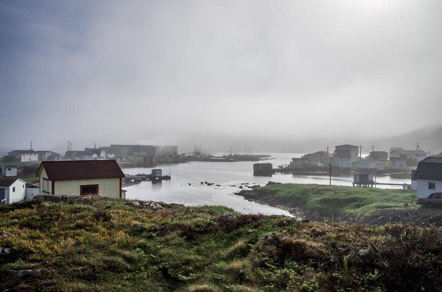Fogo Island in the fog
