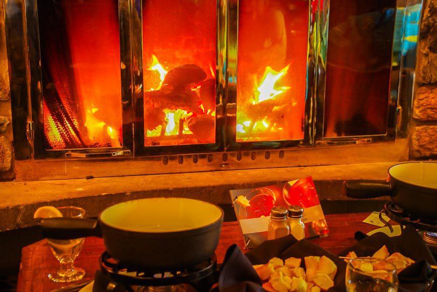Fondue by the fire