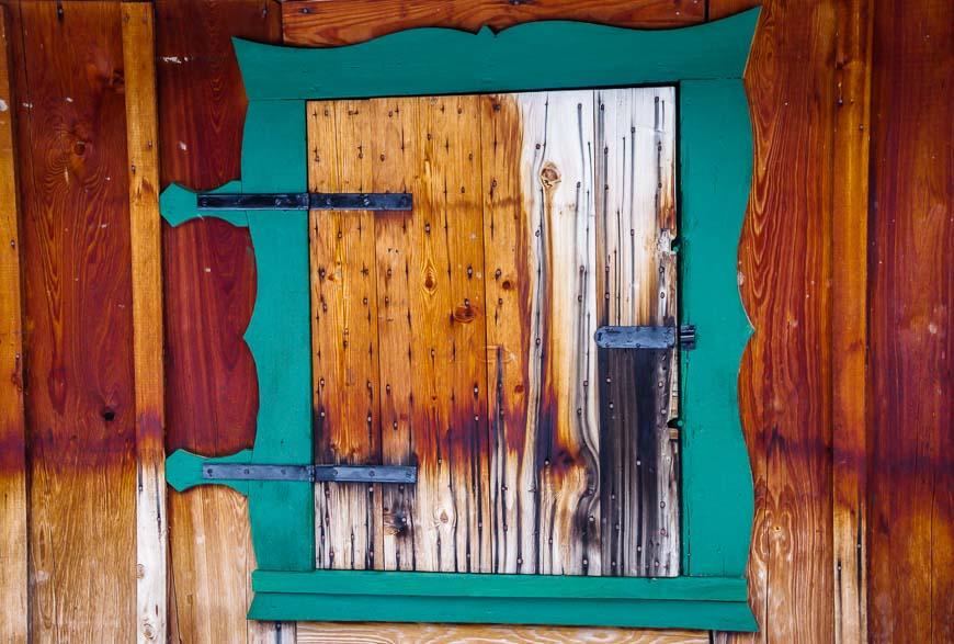 Window detail on 10 Mile Cabin