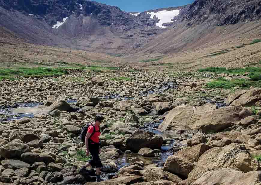 Hiking in the Tablelands area of Gros Morne National Park