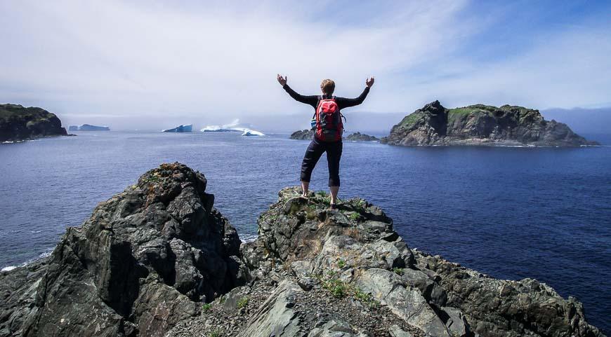 Newfoundland's outstanding coastal scenery especially in iceberg season
