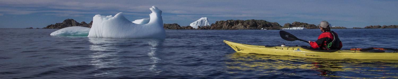 Kayaking with Icebergs in Twillingate, Newfoundland