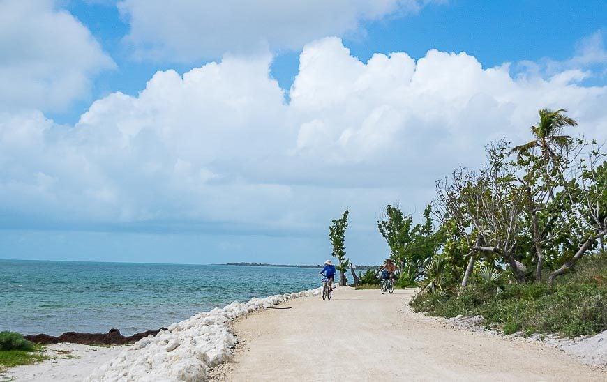 Easy biking in Bahia Honda State Park