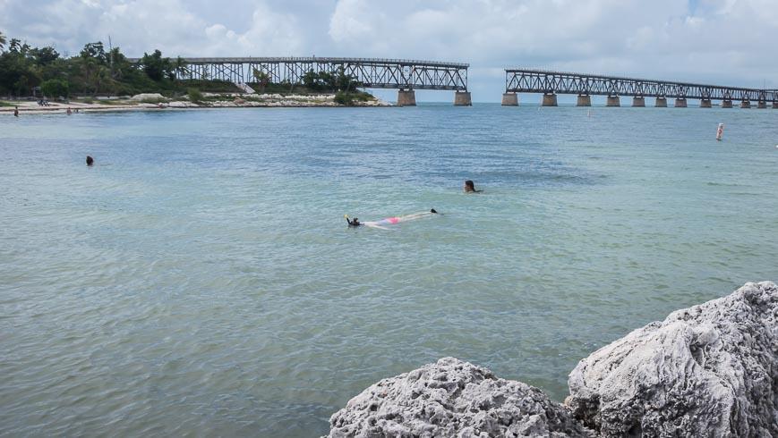 Snorkeling in the calm waters of Bahia Honda State Park