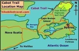 The Cabot Trail location on Cape Breton Island