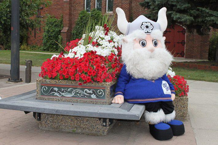 Ole Uffda - the Scandinavian Mascot - Photo credit: Tourism Camrose
