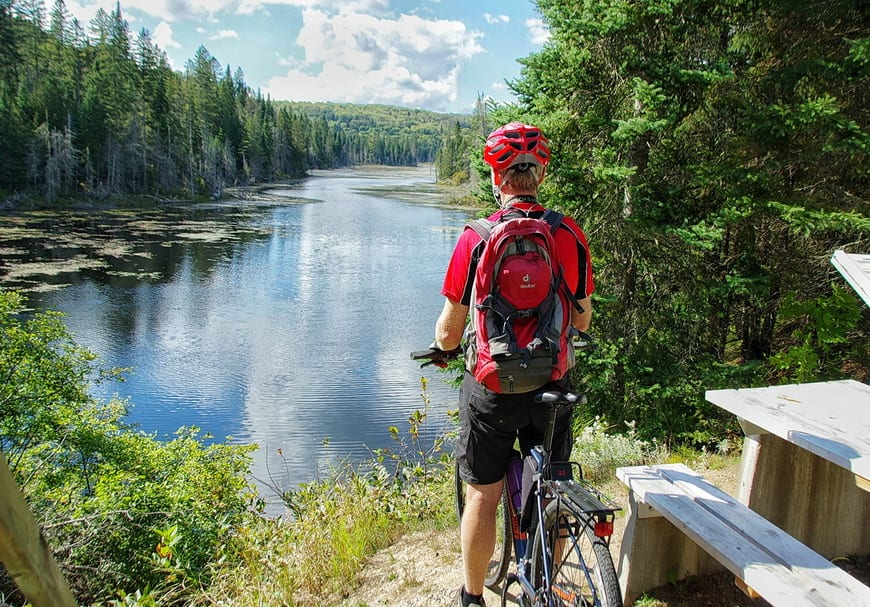 Biking Le P'tit Train Du Nord - One Of The Great Bike Rides In Canada