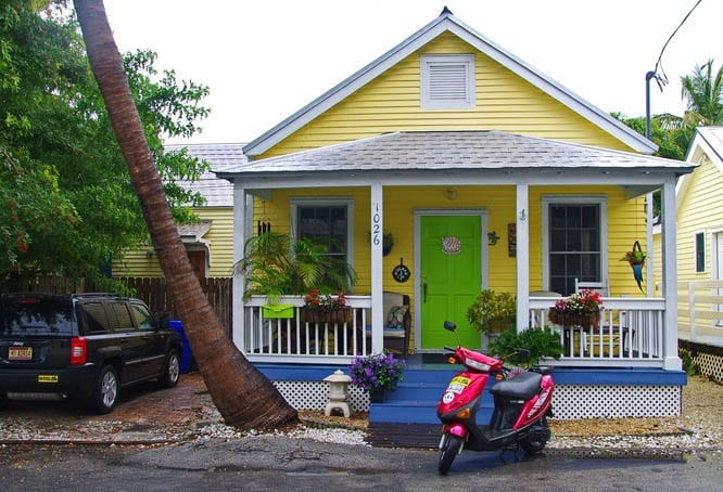 Colourful houses can be seen all through old town Key West