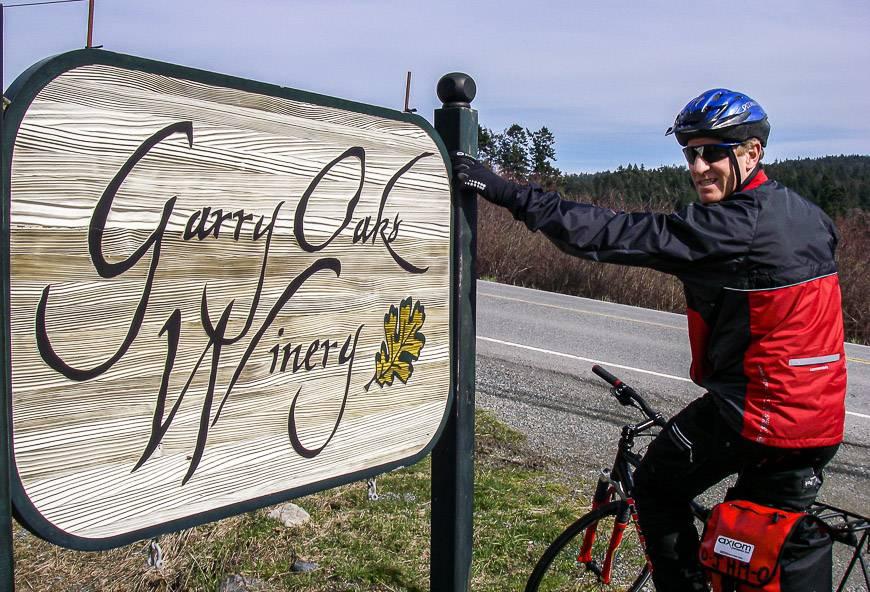 A vineyard stop on Salt Spring Island