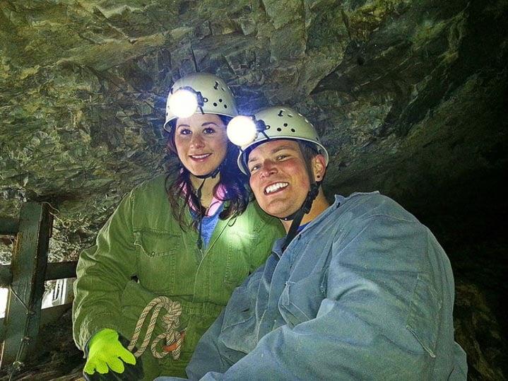 Melinda and Byron - my fellow cavers