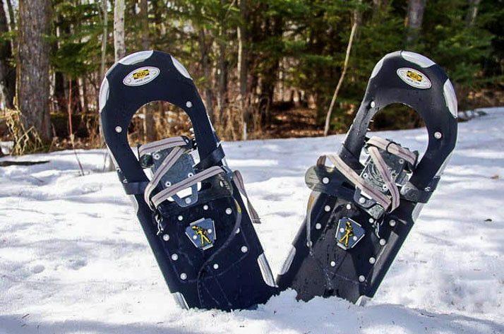 Snowshoeing in Elk Island National Park in Alberta