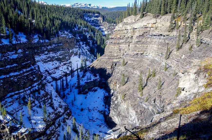Bighorn Gorge - three kilometres up the road