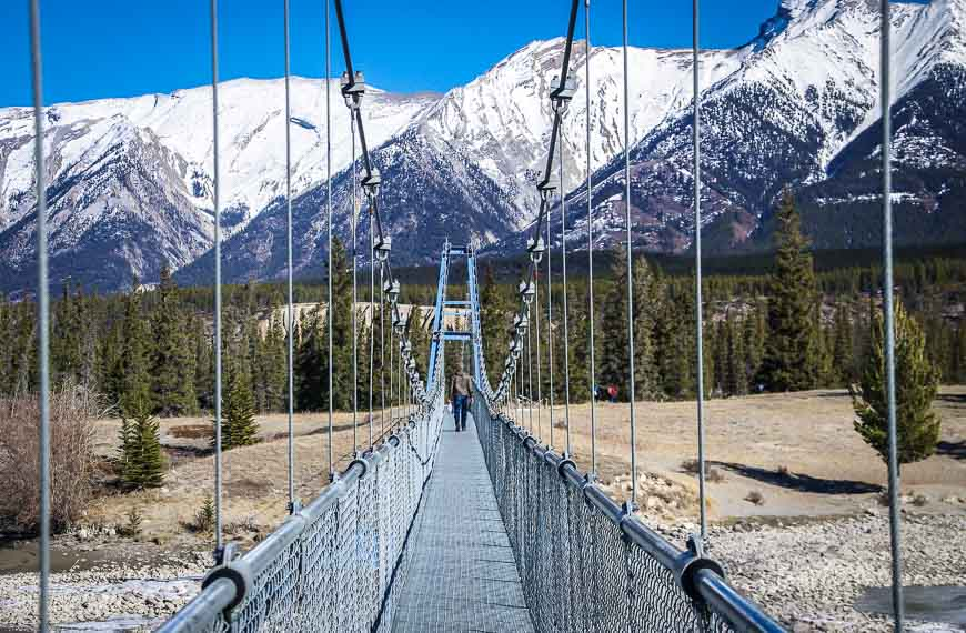 The Long Suspension Bridge Across The North Saskatchewan River