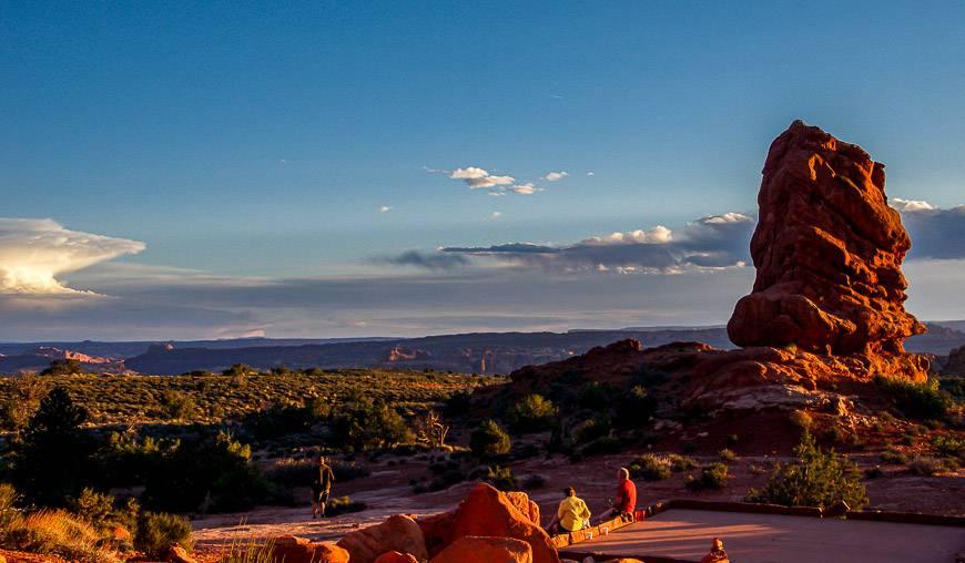 Our spot for sundowners - beneath Balanced Rock