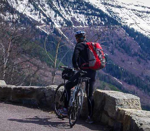 Biking the Going to the Sun Road