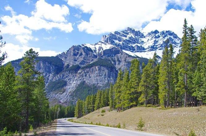 Looking back towards Cascade Mountain, Banff National Park