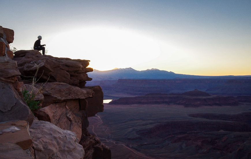 A perfect perch to watch the sun come up - Dead Horse Point State Park
