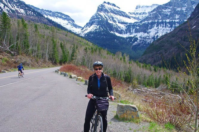Cycling the Going to the Sun Road in Glacier National Park