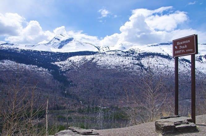 Looking towards Heavens Peak, Glacier National Park