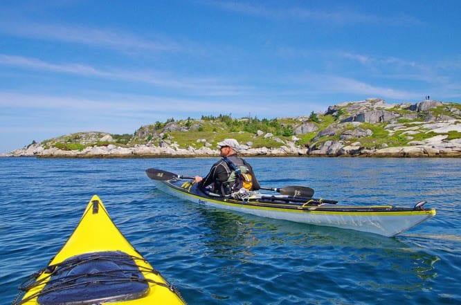 Kayaking near Peggy's Cove