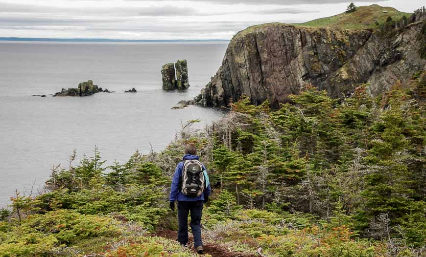 Hiking The Skerwink Trail Near Trinity, Newfoundland