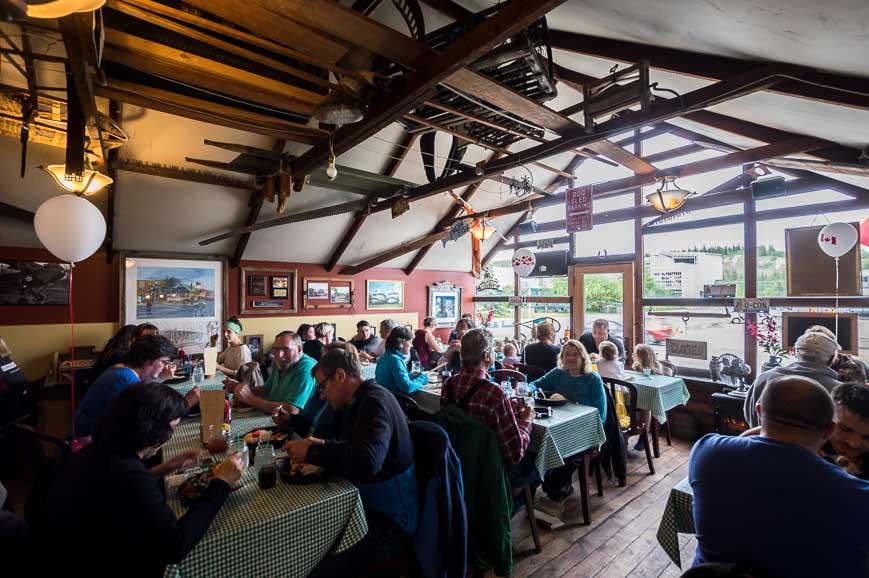 The famous Klondike Rib & Salmon Restaurant in Whitehorse