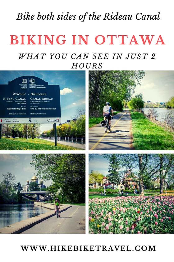 Biking in Ottawa - what you can see in 2 hours