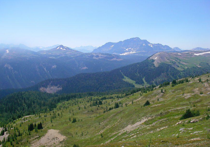 View Above Bourgeau Lake